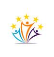 success teamwork logo design template vector image