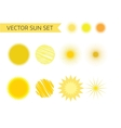 Sun summer and holiday icons set Stock vector image vector image
