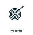 targeting icon line style icon design ui vector image