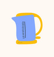 teat time kettle cartoon doodle stock icon in vector image vector image