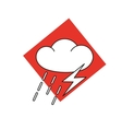 The weather icon-cloud with thunder and lightning vector image