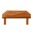 wooden dining desk vector image