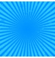 Blue starburst background vector image