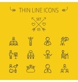 Business thin line icon set vector image