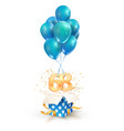 68th years celebrations greetings sixty eight vector image vector image