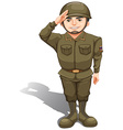 A handsome soldier vector image vector image