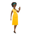 african-american pregnant woman showing palm hand vector image vector image