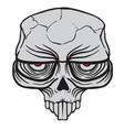alien skull vector image vector image