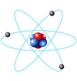 Atom diagram in large scale vector image vector image