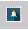 Bell marine flat stamp Summer vector image vector image