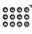 Box and package icons on white background vector image vector image