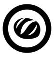 bread icon black color in circle vector image