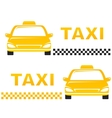 business cards with taxi vector image vector image