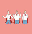 business super hero or promotion vector image