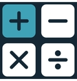 Calculator icon from Business Bicolor Set vector image