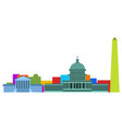 colored cityscape of washington vector image vector image