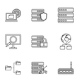 Computer icons set outline style vector image vector image