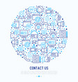 contact us concept in circle