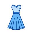 dress line icon vector image