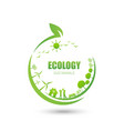 ecology friendly idea and sustainable concept vector image