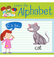 Flashcard alphabet C is for cat vector image vector image