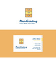 flat cupboard logo and visiting card template vector image vector image