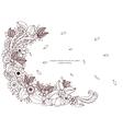 floral frame Zen Tangle vector image vector image
