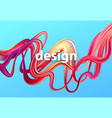 fluid poster design abstract 3d shape template vector image vector image