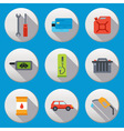 Fuel pump gas station icons vector image vector image