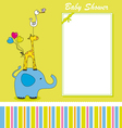 Fun animal card vector image vector image