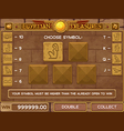 Gamble for slots game vector image vector image