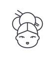 geisha line icon sign on vector image