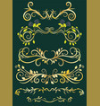 gold antique floral borders vector image vector image