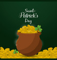 gold st patricks day icon vector image vector image