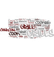 Grill features text background word cloud concept