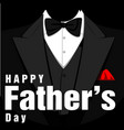 happy father day tuxedo black background vector image vector image