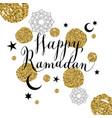 Happy ramadan with celebration symbol vector image