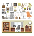 Interior details design vector image