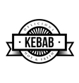 Kebab stamp vintage style vector image vector image