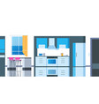 kitchen cartoon interior house flat room vector image