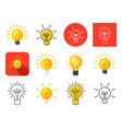 light bulbs mix vector image