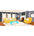living room modern home design and interior vector image