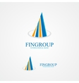 Logo for bank or real estate company vector image vector image