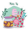 makeup cosmetics product fashion beauty manicure vector image vector image
