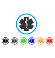 medical life star rounded icon vector image vector image
