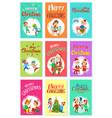 merry christmas wintertime activities kids playing vector image vector image