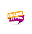 online betting isolated icon paper sticker vector image vector image