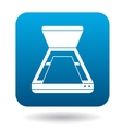 Open scanner icon in simple style vector image vector image