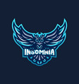 owl mascot logo vector image vector image