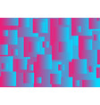 pink and blue abstract squares tech background vector image vector image